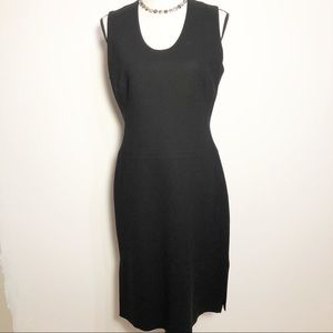 BCBG black sleeveless scoop neck cocktail dress